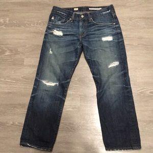 AG X Boyfriend Cropped Jeans - FLAWLESS